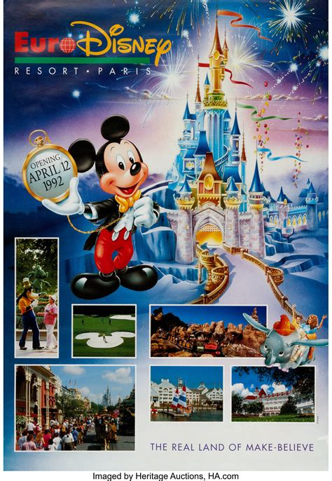 Euro Disney Resort Pre-Opening Poster (Walt Disney, 1992 ...