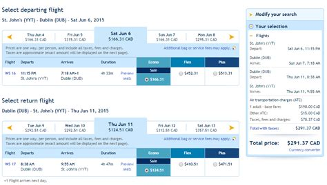 Cheap Non Stop Flights From Saint Johns Canada To Dublin