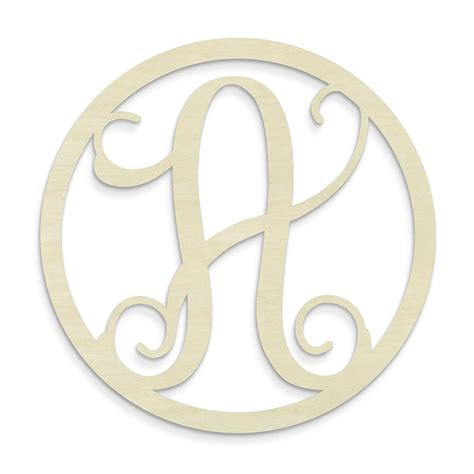 unfinished wood  single letter circle monogram hanging initial reviews wayfair