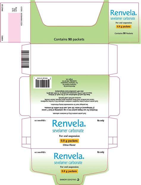 Renvela - FDA prescribing information, side effects and uses