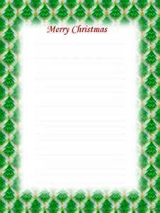 Free Printable Lined Christmas Stationery