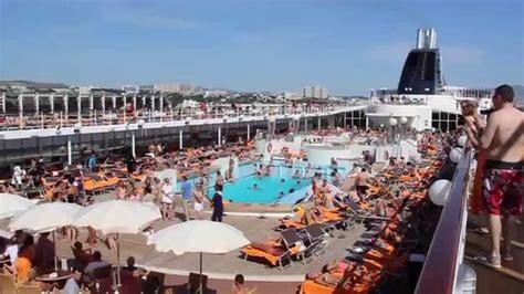 msc lirica pool deck fun  activities youtube