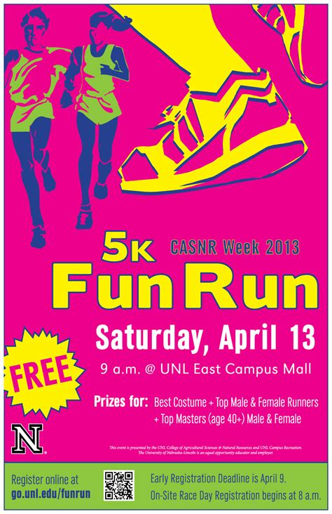 from to 5k free registration open for casnr 5k run unl parent email