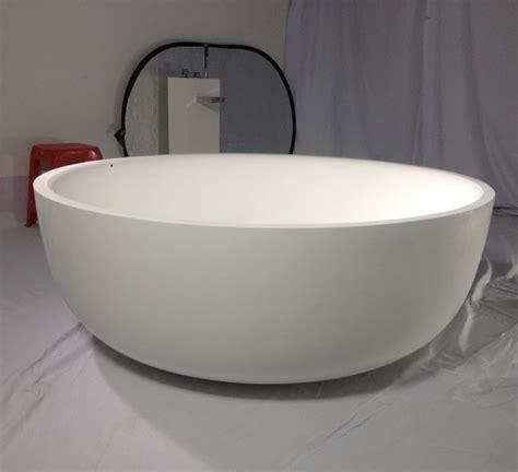 Round Artificial Stone Bathtub Round Stone Resin Bathtubs