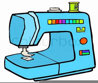 Sewing Machine Clipart Machines Clip Vector Domain