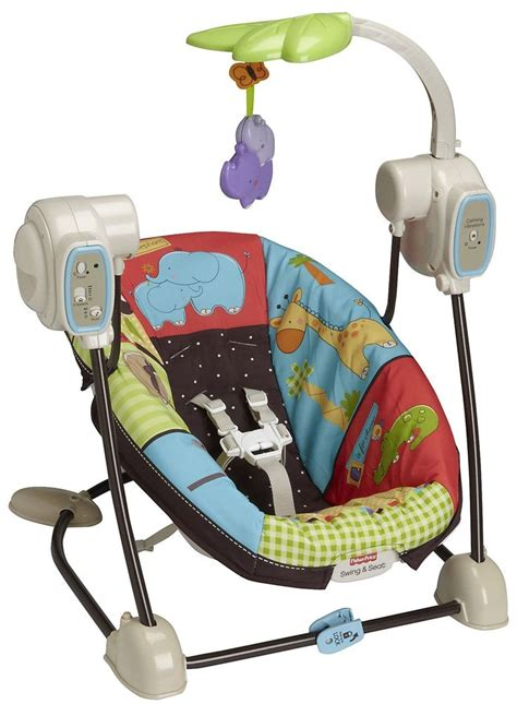 Fisher Price Space Saver Swing & Seat  Luv U Zoo Fisher