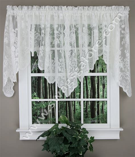 And White Valance by Alison Lace Valance White S Lichtenberg Scalloped