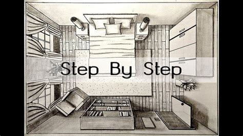 Drawing A Bedroom In Perspective by How To Draw A Bedroom In One Point Perspective Bird S Eye