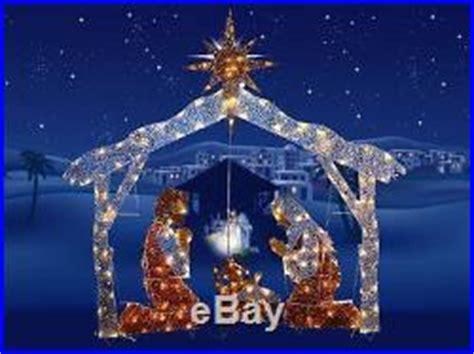 national tree company 72 nativity scene with clear lights 72 pre lit nativity scene clear lights outdoor christmas