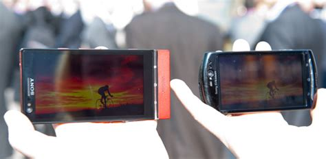 sony mobile whitemagic display tested outdoors in sunlight