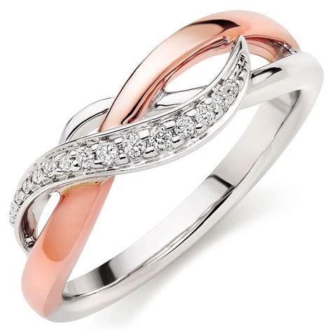 era twist 9ct white and rose gold diamond ring 0100581 beaverbrooks the jewellers