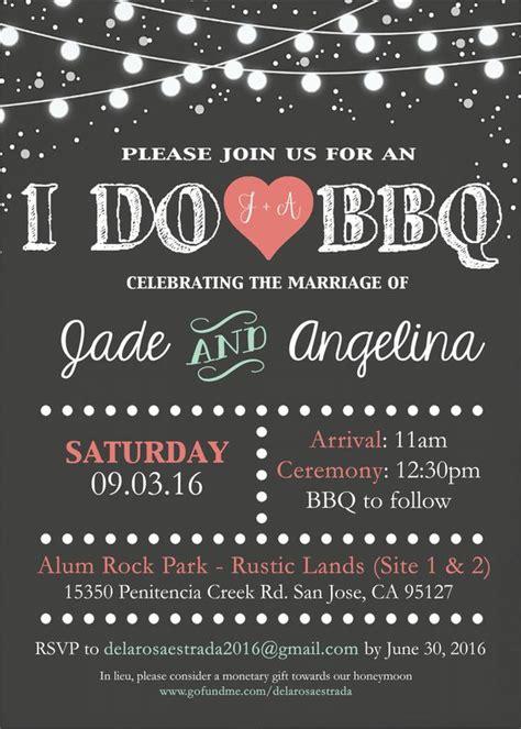 bbq wedding invitation   designs