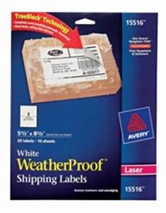 Avery weatherproof mailing labels with trueblock for Avery wine labels 15516
