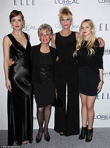 Melanie Griffith enjoys family night out with mother and ...