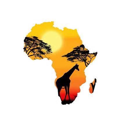 Africa Shape Silhouette Clipart Safari Sunset Perception