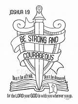 Joshua Caleb Coloring Pages Printable Getcolorings Unique Strong sketch template