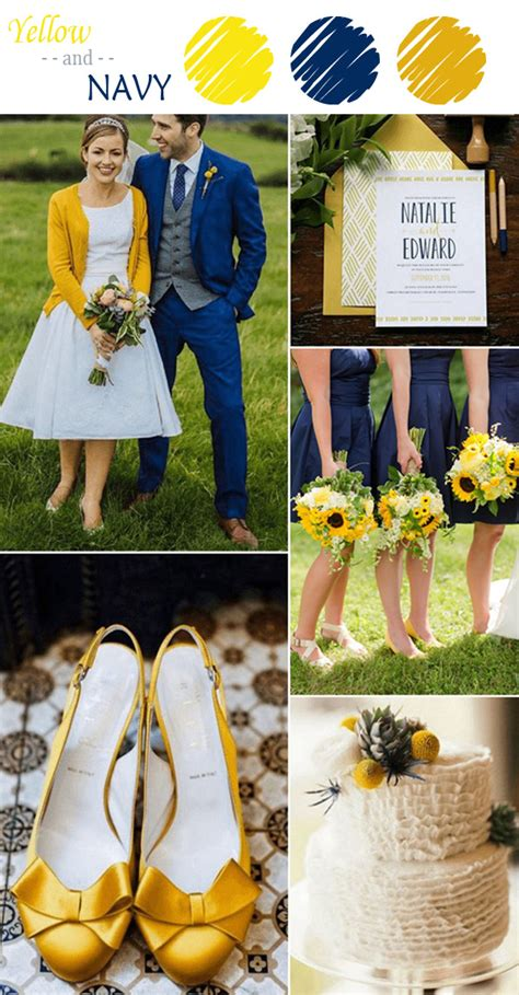 perfect yellow wedding color combination ideas