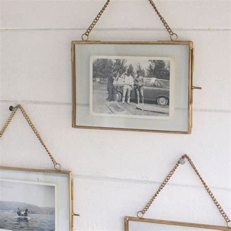 mirror framing ideas hanging brass photo frame by idyll home