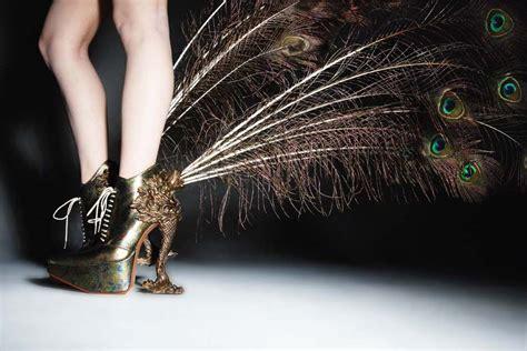 Creative Gold Peacock Large Wall Clock Metal Living Room: Platform-heeled Oxfords W/ Rococo Fantasy-creature Heels