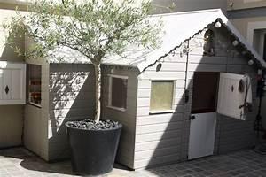 photo abri de jardin et cabane deco photo decofr With beautiful photo deco terrasse exterieur 6 deco maison orange et marron