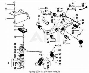 Poulan 4400 Gas Saw Parts Diagram For Cylinder  Fuel   U0026 Air Filter