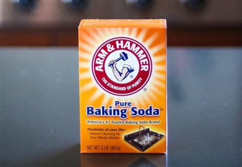 baking soda can help clean wood cabinetry and furniture