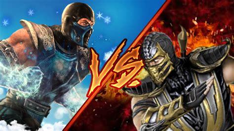 Sub Zero Vs Scorpion Batalha Dos Deuses Youtube