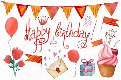 Birthday Happy Party Creative Graphics Watercolor Invitation