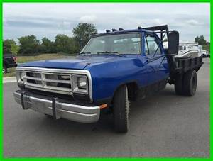 Used 89 Dodge D350 Flatbed Pickup Work Diesel Truck 5