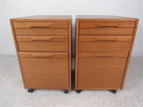 mid century file cabinet pair of mid century danish teak filing cabinets by denka