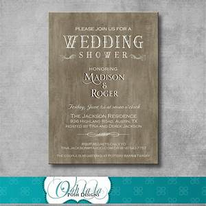 rustic elegant wedding shower invitation by oohlalaposhdesigns With wedding shower invitations with photo