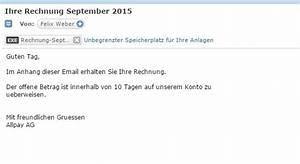 Mail Und Media Ag Rechnung : rechnung von allpay ag und felix weber per e mail was tun giga ~ Themetempest.com Abrechnung