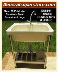outdoor kitchen sink faucet portable outdoor sink garden c kitchen cing rv ebay