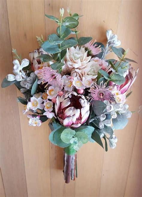 Australian Native Flowers Bridal Bouquet Artificial