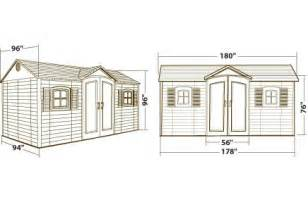 lifetime 15x8 plastic storage shed with floor 6446