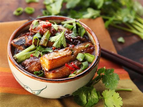aubergine cuisiner sichuan style braised eggplant with pickled chilies and