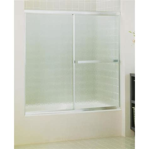 sterlingplumbing shower doors shop sterling standard 59 in w x 56 4370 in h silver