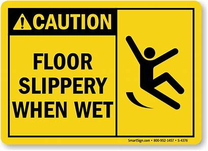 Slippery Wet Floor Sign Signs Safety Caution