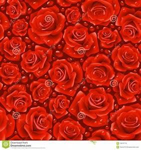 Red Rose Seamless Background Stock Vector - Illustration ...