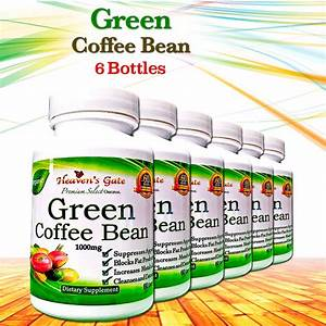 Green Coffee Bean Extract Weight Loss Diet Detox 1000mg 100  Pure 6 Bottles