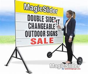 signs supplies the interchangeable sign magic slider is With changeable letter signs for sale