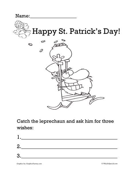 st 39 s day math worksheet follow the leprechaun