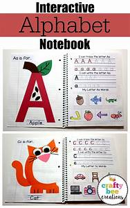 Interactive alphabet notebook colored paper notebooks for Alphabet letter notebook