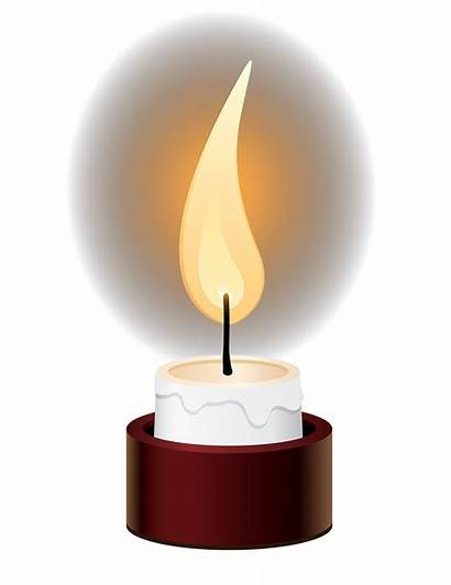 Candle Clipart Memorial Memory Candles Transparent Above