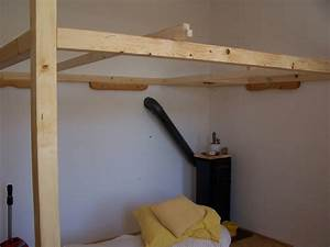 Fabriquer Une Mezzanine Soi Même : construction d 39 un lit mezzanine 2 places pour famille ~ Premium-room.com Idées de Décoration