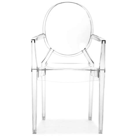 chaise polycarbonate transparente ghost style dining chair dcg stores