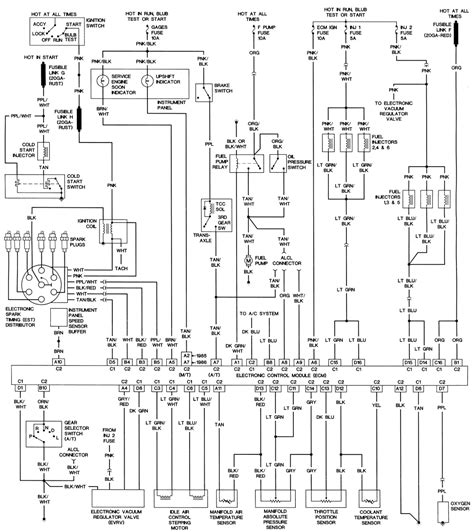 1988 Ranger Instrument Cluster Wiring Diagram Pinout The by W41 Vss With A 777170 Ecm Pennock S Fiero Forum