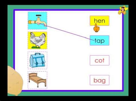 Kindergarten  Matching Pictures With Words Worksheet Youtube