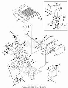 Mtd 13wc762f065  2010  Parts Diagram For Hood Style 2