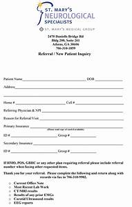 Pin doctor referral form on pinterest for Doctor referral form template